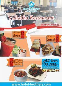 Vallabha Restaurant Merdeka Package